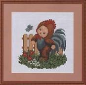 Набор вышивки крестом - Малыш Петушок