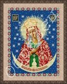 Образ Остробрамская Божья Матерь схема вышивки