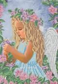 Ангелочек - схема вышивки бисером