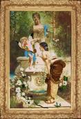 Набор вышивки бисером - У фонтана