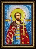 Святой Борис - схема вышивки бисером
