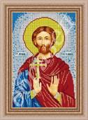 Святой Евгений - схема вышивки бисером
