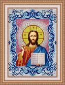Икона Венчальная Иисус Христос в рамке - схема с бисером