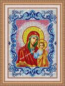 Икона Венчальная Казанская Богоматерь в рамке - схема