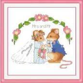 Набор вышивки крестом - Мышиная свадьба