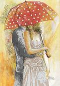 Осенний роман под зонтом-1 схема вышивки