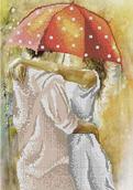 Осенний роман под зонтом-2 схема вышивки