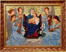 Набор вышивки бисером икона Колыбельная ангелов