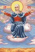 Схема на канве с рисунком - Богородица Спорительница Хлебов
