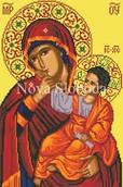 Схема на канве с рисунком - Богородица Отрада и Утешение