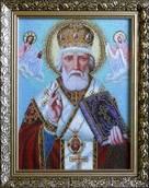 Набор вышивки бисером икона Святой Николай Чудотворец