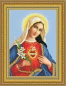 Сердце Марии схема вышивки бисером