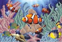 Коралловые рыбки схема вышивки