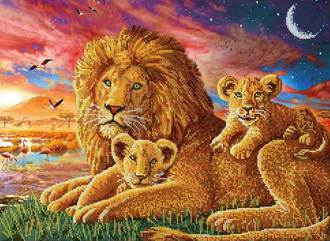 Вышивка бисером царь зверей 90