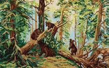 Утро в сосновом лесу - схема вышивки