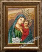 Набор вышивки бисером икона Богородиця (яблуневий цвіт)